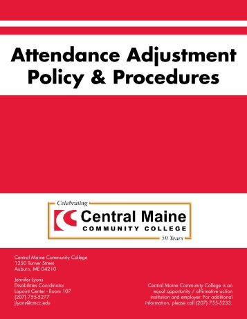 Attendance Adjustment Policy & Procedures - Central Maine ...