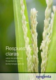 Respuestas claras sobre los productos fitosanitarios y la ... - Syngenta