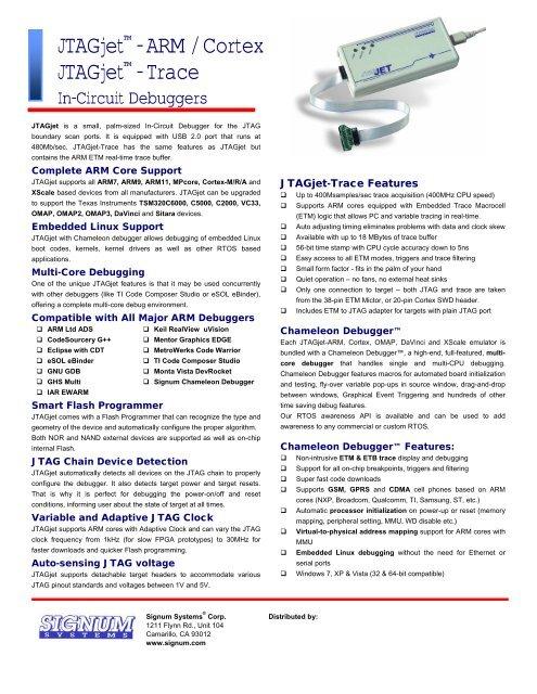 JTAGjet-ARM - Signum Systems Corp