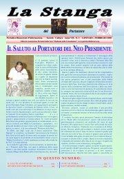 Gennaio - Febbraio 2010 (Anno VII - n. 1) - Associazione Portatori ...