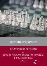 RELATÓRIO DE EXECUÇÃO - Instituto Hidrográfico