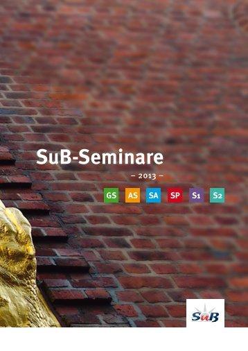 Seminarinhalt - SuB Seminare