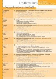 Un planning de formation regroupant plus de 18 stages