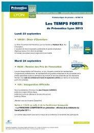 Les TEMPS FORTS - Préventica