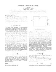 Alternating Current and RL Circuits