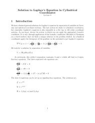 Solution to Laplace's Equation in Cylindrical Coordinates 1 ...
