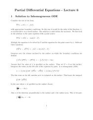 Partial Differential Equations - Lecture 6