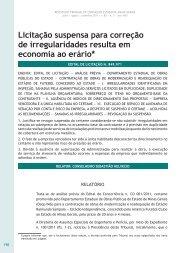Licitação suspensa para correção de ... - Revista do TCE