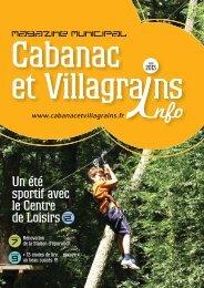 Magazine municipal 12 7 9 - Commune et mairie de Cabanac et ...