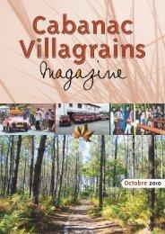 Octobre 2010 - Commune et mairie de Cabanac et Villagrains