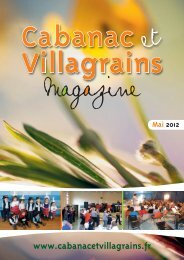 Vacances d'été 2012 - Commune et mairie de Cabanac et Villagrains