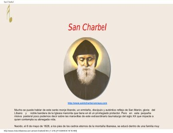 San Charbel - Vidas ejemplares