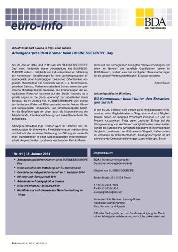 Euro-Info Nr. 01/2014