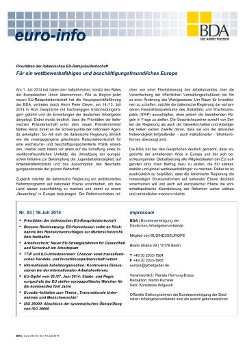 Euro-Info Nr. 03/2014