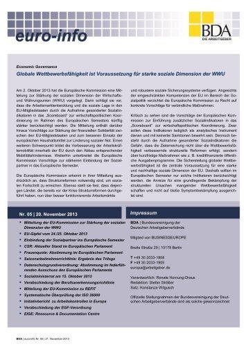 Euro-Info Nr. 05/2013