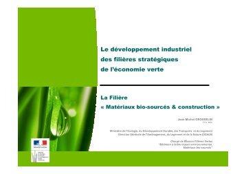 le développement industriel des filières stratégiques de l'économie ...