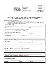 1 modulo di richiesta di concessione in uso precario di locali ...