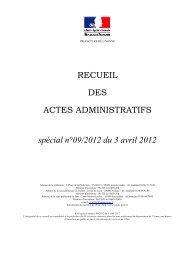 Recueil n°9 du 3 avril 2012 - Les services de l'État dans l'Yonne