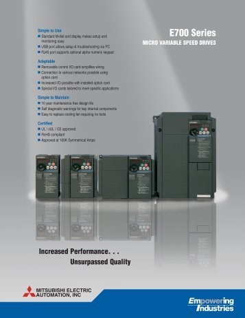 E700 Series - Electro Power
