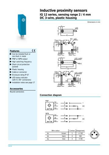 Inductive Proximity Sensor 3 Wire Wiring Diagram - Schematic Diagrams