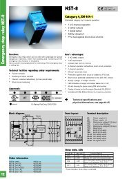 Emergency stop relay NST-8
