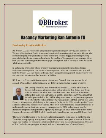 Vacancy Marketing San Antonio TX