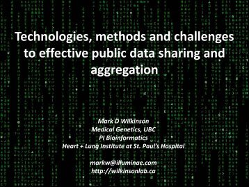 Technologies, methods and challenges to effective public data ...