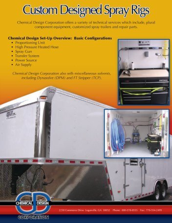 Chemical Design Corporation offers a variety of technical services ...
