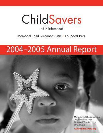 2004–2005 Annual Report - ChildSavers