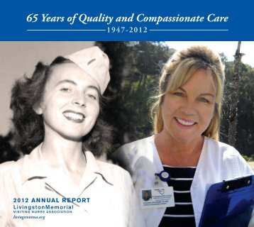2012 Annual Report - Livingston Memorial Visiting Nurses Association