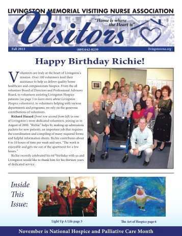 Happy Birthday Richie! - Livingston Memorial Visiting Nurses ...