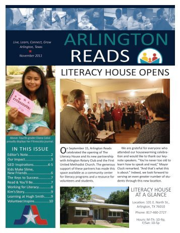 November 2011 newsletter - Arlington Public Library