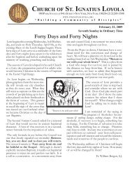 Forty Days and Forty Nights - Church of St. Ignatius Loyola