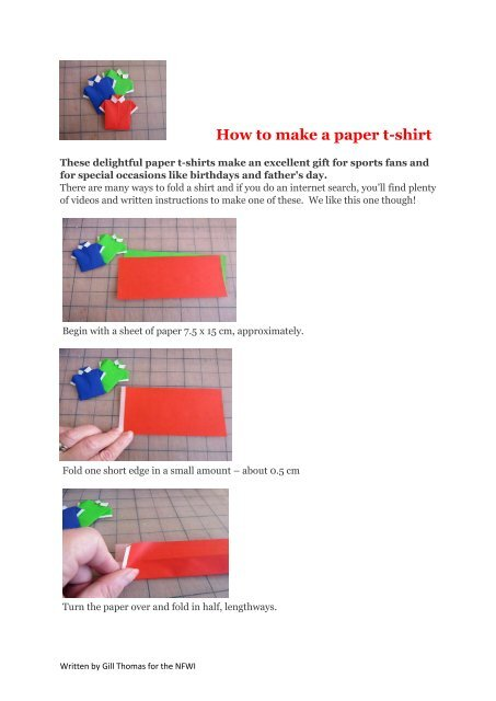Paper Origami Shirts - DIY - Full Instructions - freshly found | 640x453