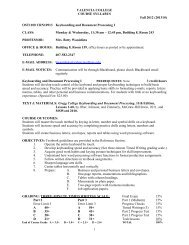 Keyboarding and Document Processing I - Faculty Website Index ...