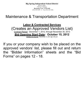 Section IV. Bidding Forms