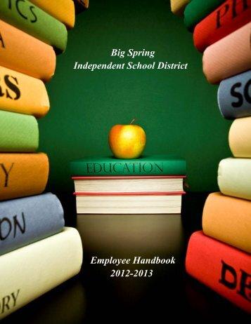 Employee Handbook - Big Spring ISD