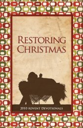2010 Advent Devotionals - God Issues