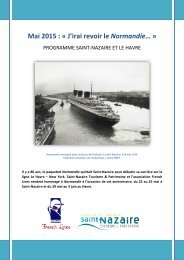 Programme Saint-Nazaire et Le Havre 80 ans paquebot Normandie