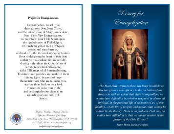 Rosary for Evangelization - Office for the New Evangelization