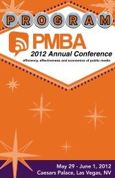 2012 Annual Conference - PMBA   Public Media Business Association