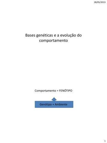 Etologia aula 12 - ETCO