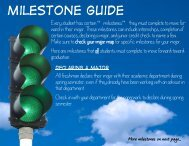 Milestone guide (including plans for graduation, declaration of major ...