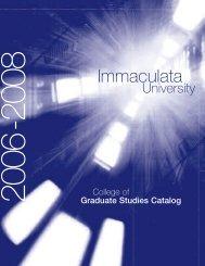 Course Descriptions - Immaculata University
