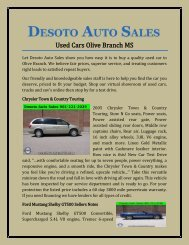 Used Cars Olive Branch MS