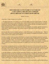 Mensaje del Santo Padre Juan Pablo II - Vidas ejemplares