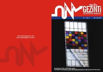 dergi sayı 4 - n'den N'ye GEZİNTİ İstatistik Dergisi