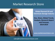 Global Planned Oil and Chemicals Storage Industry Outlook to 2019 - Capacity and Capital Expenditure Forecasts with Details of All Planned Terminals