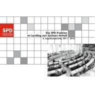 Die SPD-Fraktion im Landtag von Sachsen-Anhalt, 6. Legislaturperiode 2011-2016