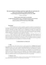 Recommandations techniques générales applicables aux ...